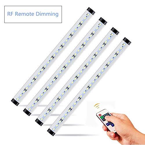 - NEWCITY LED Under Cabinet Lighting Kit: 4pcs Extendable Under Counter LED Light Bars (3200K warm white) Dimmable, UL-listed Power Adapter for Gun Box, Safe, Locker, Closet, Shelf, Show Case Lighting