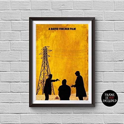 Seven Minimalist Poster Se7en Alternative Cult Movie Print David Fincher Film Brad Pitt Kevin Spacey Morgan Freeman Dedective Mills Somerset Home Decor Cinema Artwork Wall Art Hanging Cool Gift