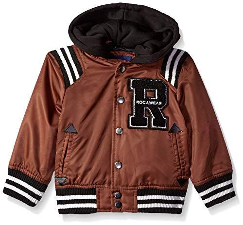 (Rocawear Boys' Toddler Varsity Jacket, Brick, 4T )