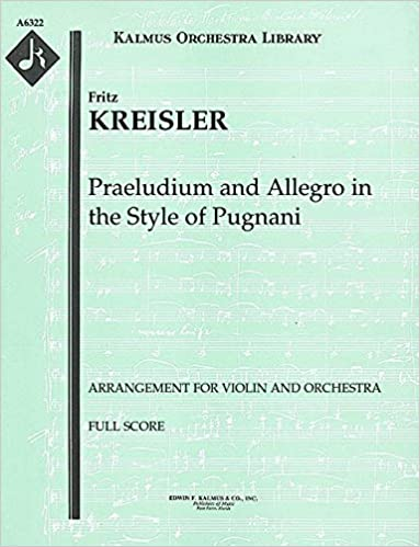 Amazon com: Praeludium and Allegro in the Style of Pugnani