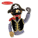 Melissa & Doug Pirate Puppet with Detachable Wooden Rod (Puppets & Puppet Theaters, Animated Gestures, Inspires Creativity, 15' H x 5' W x 6.5' L)