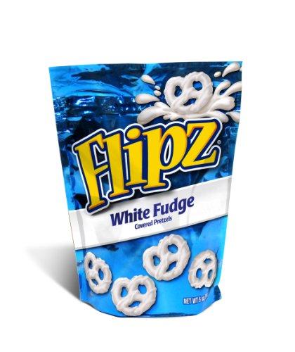 Flipz White Fudge Covered Pretzel, 5 Ounce (Pack of ()