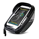 DEKINMAX Bike Bag, Waterproof Bicycle Handlebar Bag Cycling Pack with Touch Screen 6.0 inch Phone Case for Cell Phone
