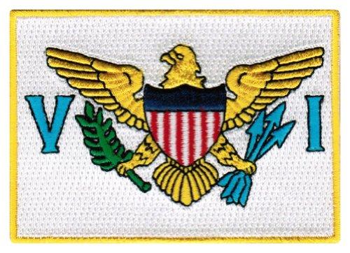 US Virgin Islands Flag Embroidered Patch Iron-On Caribbean National Emblem (Virgin Island Flag Patch)