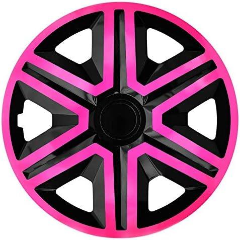 Nrm Radkappen Action Pink Schwarz 15 Zoll 4 X Universal Radzierblenden Radkappen Auto