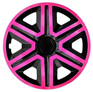 NRM Tapacubos Action, Rosa de Negro 15 Pulgadas. (4 x Universal Tapacubos/ Tapacubos): Amazon.es: Coche y moto