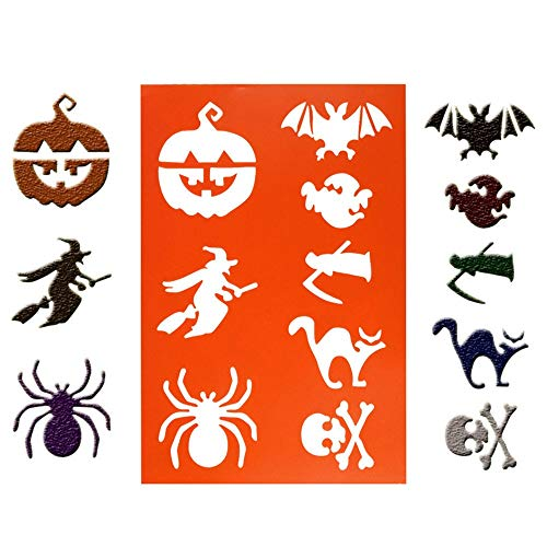 1 piece 1 PC DIY Halloween cakenew Coffee Stencils Spray Mold Decorating Print Modeling kichen accessories kichen tools ()