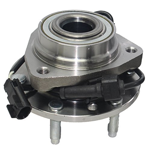Brand New Front Wheel Bearing and Hub Assembly for Ascender, Envoy, Rainier, Trailblazer 6 Lug W/ABS ()
