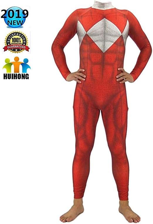 HUIHONG Rangers Disfraz De Cosplay Niños Adulto Navidad ...