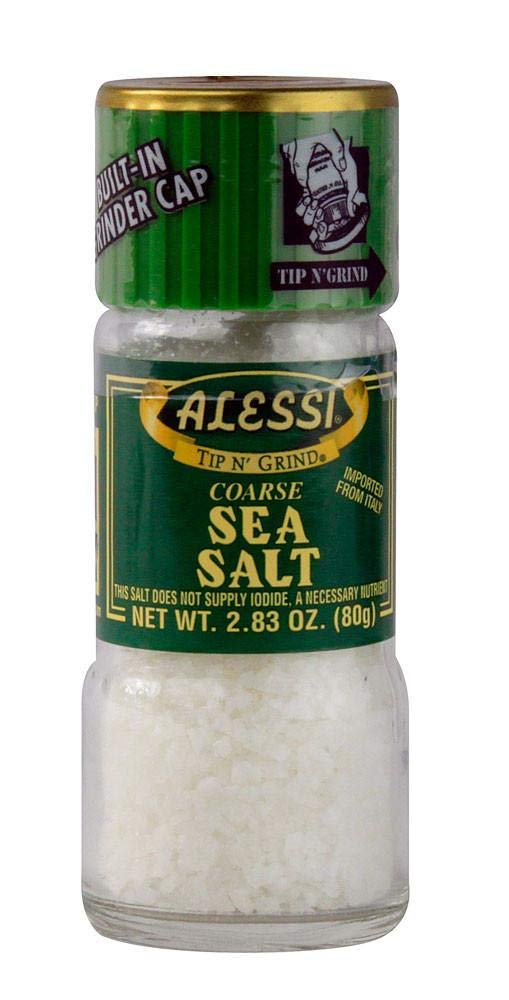 Alessi Sea Salt with Grinder 2.83oz (80g)