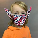 Novelty Facemask, Cool Anti-dust Mouth Face_mask_ Children Protect Covering Bandana Unisex Reusable Washable Shi_led Elf Ears Cosplay Halloween Party Props