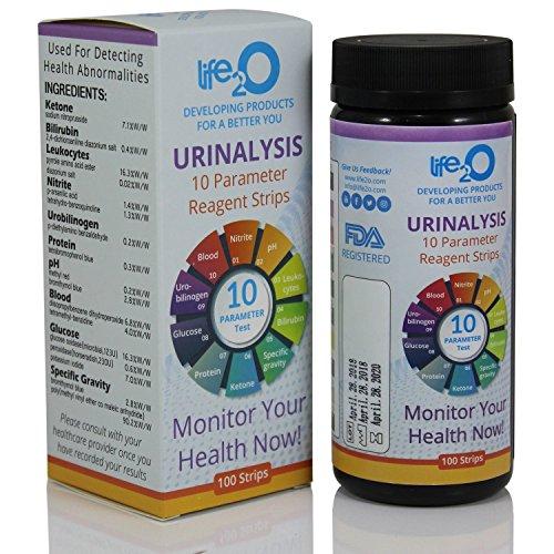 Complete 10-in-1 Urine Test Strips 100 CT   Medical Grade Urinalysis Test Kit for Keto Diet, Diabetes, Gallbladder, Kidney & Liver Function   Ketone, Blood, Protein, pH, UTI, Glucose & More!