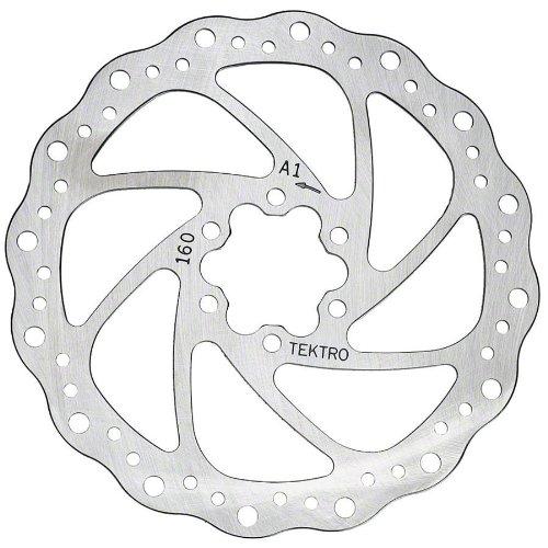 Tektro 180mm wavy type rotor w/ bolts by Tektro