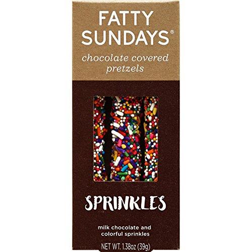 Fatty Sundays Chocolate Covered Pretzels, 1.38oz (Sprinkles) (Chocolate Covered Pretzel Sticks)