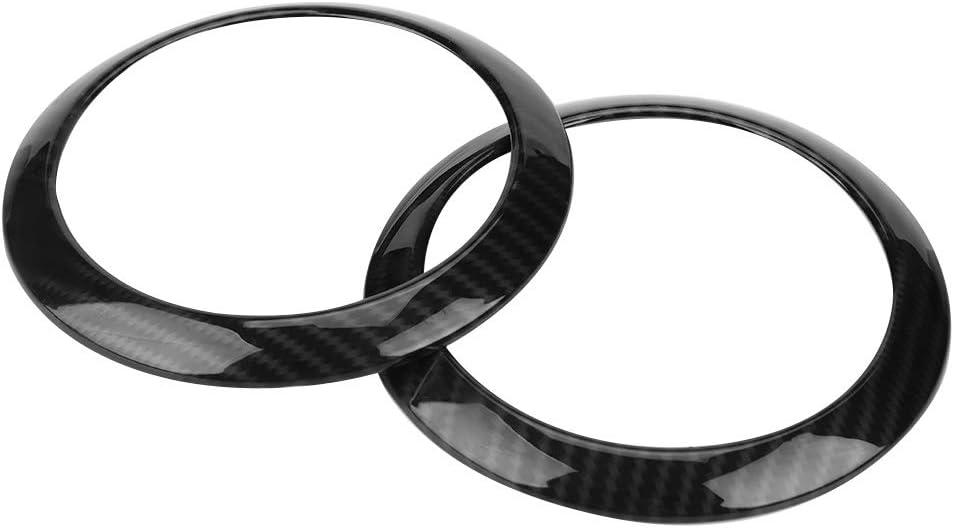 Cuque 2 Pcs Automotive Air Outlet Decoration Trim Sticker ABS Carbon Fiber Self Adhesive Car Side Air Conditioning Cover Ring Decor Air Vent Cover Trim for E Class W213 2016 2017 2018