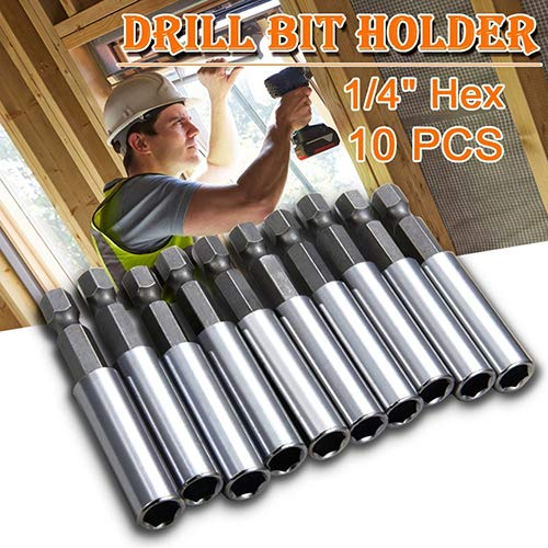 10 Pcs Magnetic Extension Extend Socket Drill Bit Holder 1//4 Hex Power Tools giveyoulucky