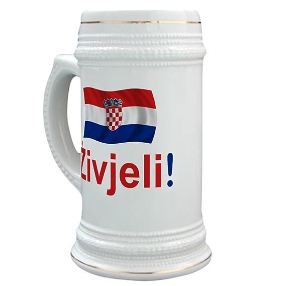 CafePress – Kroatische zivjeli – Bier Stein, 22 Oz Keramik Trinken Tasse