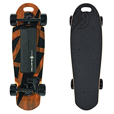 Atom Electric B10 Skateboard - 1000W Belt Drive - 90Wh Li-Ion Battery, Brown, 29.5 from MBS Mountain Boards