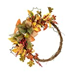 Wreaths-Wreath-Front-Door-Wreaths-Christmas-Decoration-Wreath-Home-Decoration-Supplies-Flowers-Garland-ForWedding-Home-Maple-Leaf-Wreath-Decoration-Color-Yellow-Size-3636cm