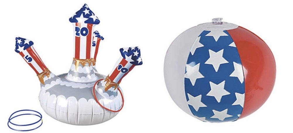 DGショッピングSpreeインフレータブル花火Ring Toss And And Pieces) Miniアメリカ国旗ビーチボール(13 B07CKDQR2Z Pieces) B07CKDQR2Z, インポート靴のALEXIS/アレクシス:f720bd68 --- webshop.mrf.se