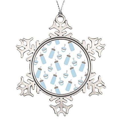 Metal adornos copo de nieve adornos de Navidad personalizadas ...