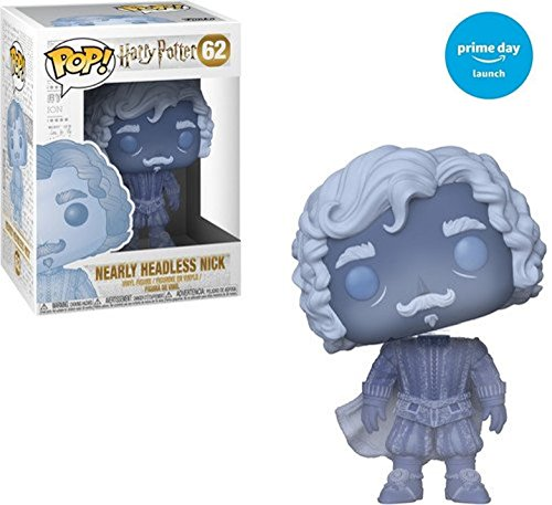 Funko Pop Harry Potter-Nearly Headless Nick, Blue Translucent, Multicolor
