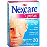 Nexcare Opticlude Orthoptic Eye Patches Regular 20 Each (Pack of 6)