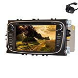 Pupug Capacitive Android 4.2 Car DVD GPS For Ford Focus Mondeo S-MAX With Video Stereo Radio Camera 7 Inch Black Double Din IN Deck