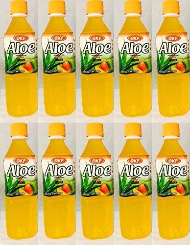OKF Aloe: Mango Aloe Drink 10/16.9 Oz. Case