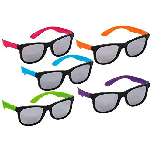 [Awesone 80's Party Neon Glasses Accessory, Plastic, Standard Size] (1980s Costume)