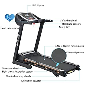 Treadmill Portable Folding Running Machine Indoor Commercial Home Health Fitness Training Equipment (US STOCK) by T9028S
