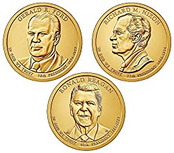 Coins will come ready to add to your sets and albums. Each Three-coin set features four uncirculated Presidential $1 Coins from the United States Mint at Denver. Each The dollar coins has a common reverse (tails side) design featuring a striking rend...