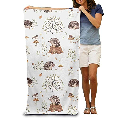 HANBINGPO Super Absorbent Beach Towel Hedgehog Cactus Polyester Velvet Beach Towels 31