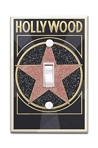 Hollywood, California - Star (Light Switchplate Cover)