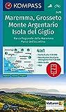Maremma, Grosseto, Monte Argentario, Isola del Giglio: 4in1 Wanderkarte 1:50000 mit Aktiv Guide und Detailkarten inklusive Karte zur offline ... (KOMPASS-Wanderkarten, Band 2470)