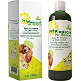 Honeydew Natural Pet Shampoo for Dogs Puppies and Cat - Anti Itch Flea and Tick Repellent with Lemongrass and Citronella Tear Free Odor Eliminator, 8 oz.