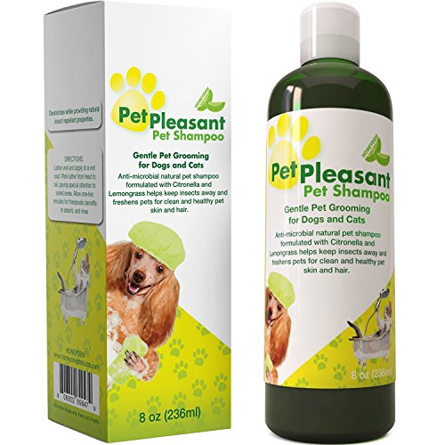 51zvSnBZozL - Honeydew Natural Pet Shampoo for Dogs Puppies and Cat - Anti Itch Flea and Tick Repellent with Lemongrass and Citronella Tear Free Odor Eliminator, 8 oz.