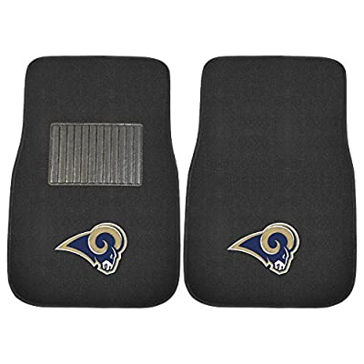 """FANMATS 17134 NFL - Los Angeles Rams Embroidered Car Mat , Team Color, 17""""x25.5"""""""