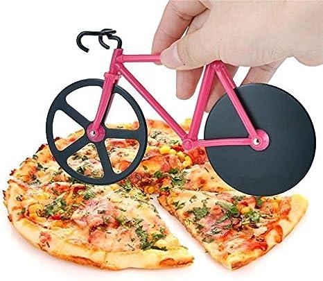 Tagliapizza a forma di bicicletta in acciaio inox con doppia rotella per pasticceria N9000 Iii