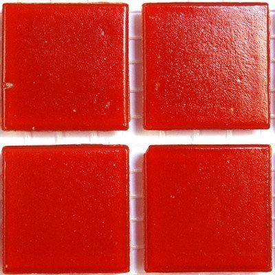 75 Matte Red Vitreous Glass Mosaic 20mm Tiles A96 Hobby Island