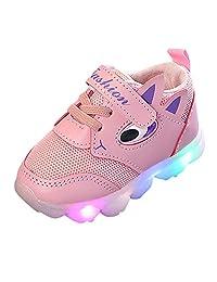 Dainzuy Toddler Kid Baby Boys Girls Led Light Soft Luminous Outdoor Sport Shoes