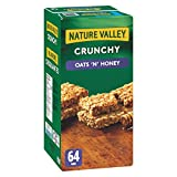 NATURE VALLEY Crunchy Oats 'n' Honey Granola Bars, 64-Count, 1472 Gram