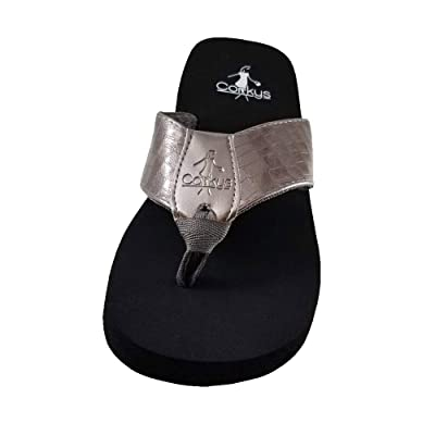 Corkys Womens Lumi EVA Flip Flop Sandal (7, Pewter) | Sandals