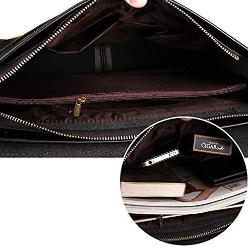 MESIDA Polo Messenger Bags Men Vintage Designer Leather Shoulder Bags Office Briefcase Business Laptop Handbags Black