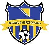 Bosnia & Herzegovina Flag National Soccer Team Home Decal Vinyl Sticker 13'' X 12''