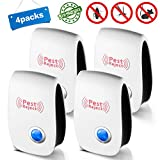 [2018 Upgraded Version] Ultrasonic Pest Repeller Electronic Plug Indoor Repellent Pest Reject for Mice,Spiders, Bugs, Ants, Mosquitoes, Rats, Roaches, Rodents - Ultrasonic Pest Control (4 Pack)