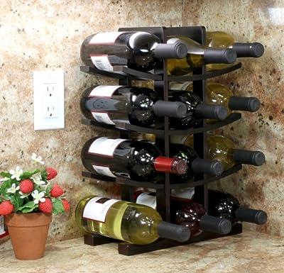 12-Bottle Wine Rack Espresso