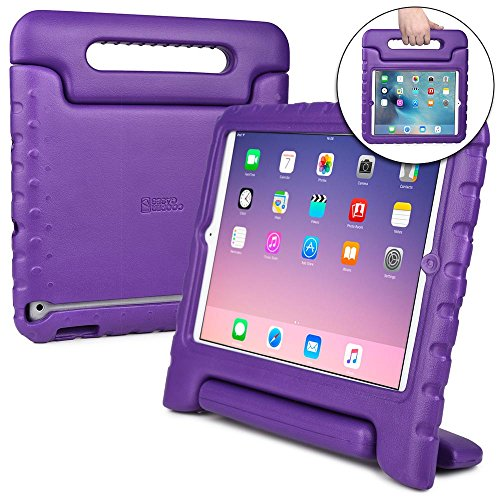 COOPER DYNAMO Kids case compatible with Galaxy Tab S2 9.7 | Shock Proof Heavy Duty Kidproof Cover for Kids | Girls, Boys, School | Handle & Stand, Screen Protector | Samsung SM-T810 T815 T817 (Purple)