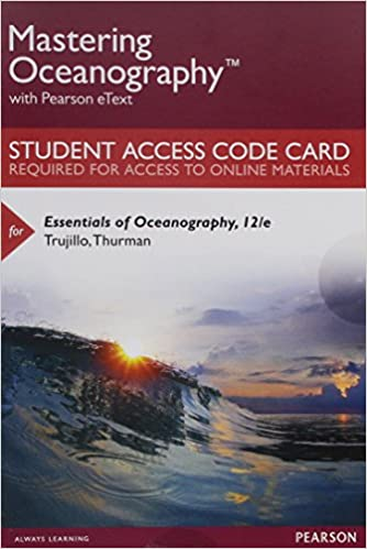 Mastering oceanography with pearson etext standalone access card mastering oceanography with pearson etext standalone access card for essentials of oceanography 12th edition 12th edition fandeluxe Image collections