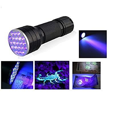 Fronnor 21LED UV Light Ultra Violet Mini Portable Flashlight Torch Light Handheld black light Urine,Stain Detector